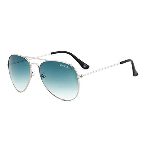 Royal Son UV Protected Aviator Unisex Sunglasses (RS0014AV|58|Green Lens)