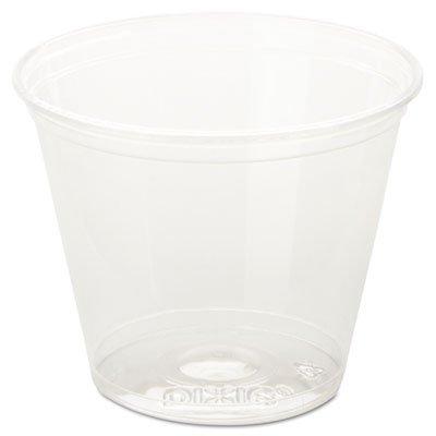 - DIXCC9K - Dixie Clear Cold Plastic Cups, 9 Oz, Squat