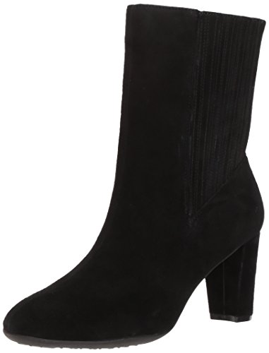 Aerosoles Women's Fifth Ave Mid Calf Boot, Black Suede, 7.5 M - Shops Ave 5th