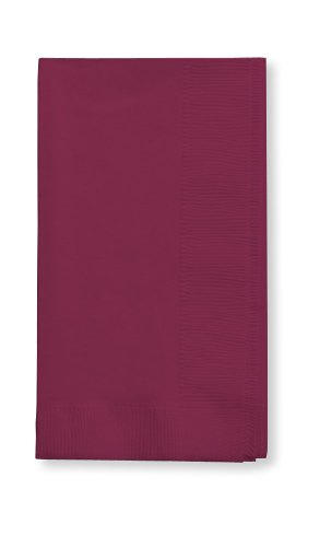 Creative Converting Touch of Color 2-Ply 50 Count Paper Dinner Napkins, Burgundy ()