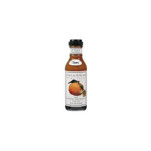 Briannas Ginger Mandarin Dressing (Economy Case Pack) 12 Oz Bottle (Pack of - Mandarin Salad