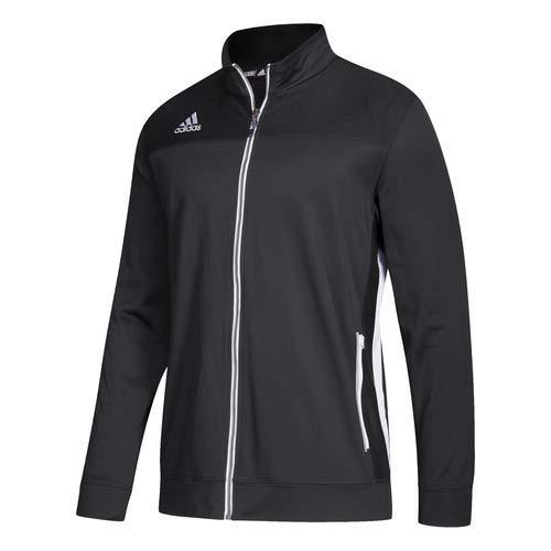 adidas Men's Adult Utility Jacket Full Zip Sport Climalite Sweatshirt (Black L) (Adidas Climacool Jacket)