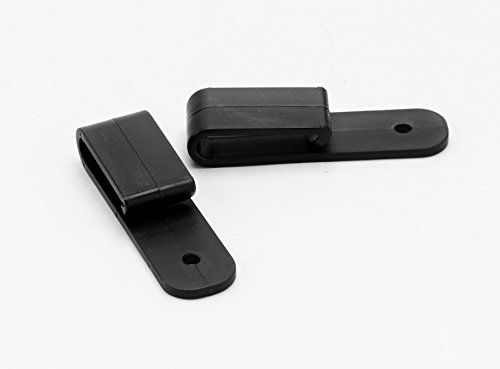 FoxX Holsters Low Profile Nylon Holster Belt Clips, Pair of 2 for IWB Hybrid Holsters Tuckable (Black) Made in USA