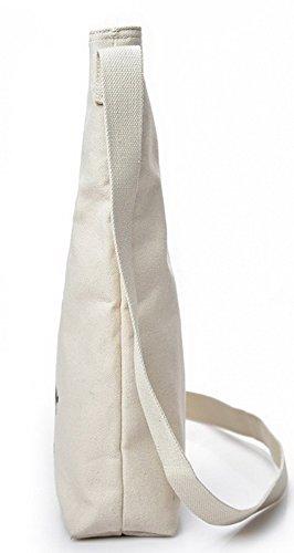 Tote Weekend Donna fughe acquirente di tela Tela Borse VogueZone009 Style Bianco Moda Zw7Wnwx