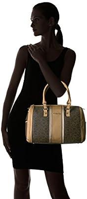 Calvin Klein Monogram Bowling Bag Satchel