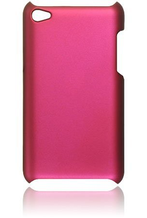 New Premium Plastic Hard Crystal Case Cover for Apple iPod Touch 4G, 4th Generation, 4th Gen - Hot Pink, Seamless Rear Case Only