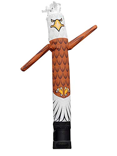 - LookOurWay Eagle Mascot Character Animal Themed 6-Feet Tall Air Dancers Inflatable Tube Man Complete Set with 1/4 HP Sky Dancer Blower
