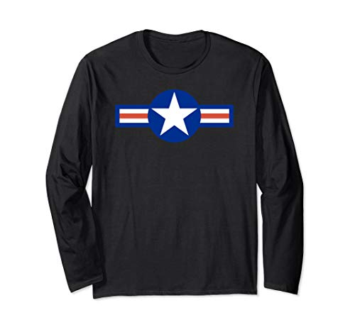 US Air Force Army Navy Military Aviation Roundel Long Sleeve -