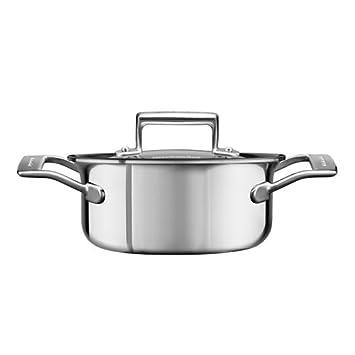 KitchenAid 5 capas núcleo de cobre 1,5 litros olla con tapa: Amazon.es: Hogar