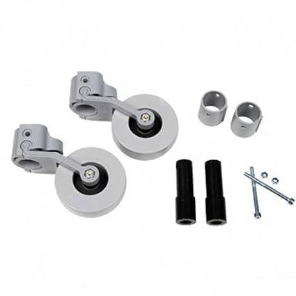 Kit de ruedas traseras para andador (adaptable a tubos de 22, 25, 30