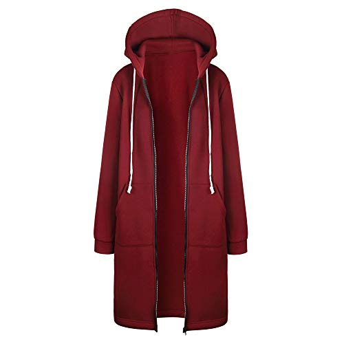 Jocome Coat,Women Jacket Warm Hoodies Sweatshirt Long Coat Tops Outwear