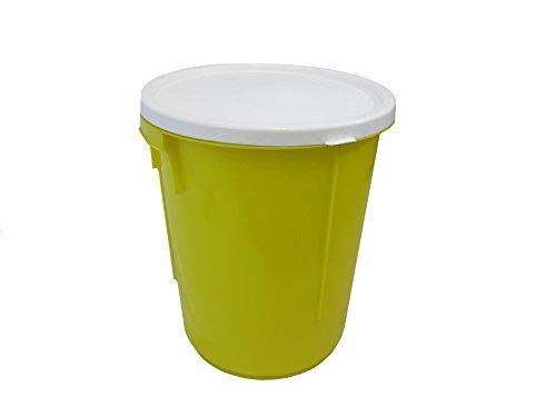 Nappy Bucket - YELLOW 25 litre storage bucket with lid / nappy bucket / storage container / bucket / bin.(made in uk) by Keto Plastics