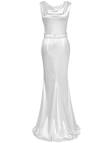 MUXXN Womens 1950s Cowl Neck Fishtail Evening Dress(2XL