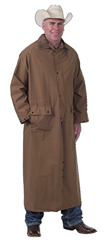 Tough 1 Deluxe Full Length Saddle Slicker, Brown, Small