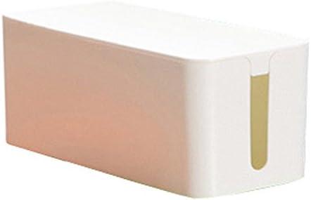 SODIAL - Caja organizadora de cables de plástico ABS para ocultar cables ocultos, color blanco: Amazon.es: Hogar
