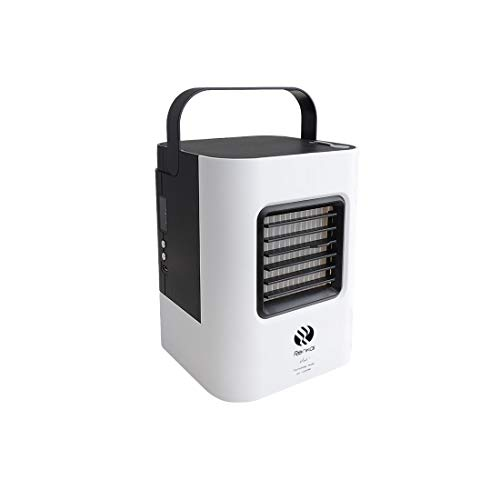 Kasenxet USB Mini Air Cooler Household Desktop Fan Refrigeration Portable Air Conditioner White