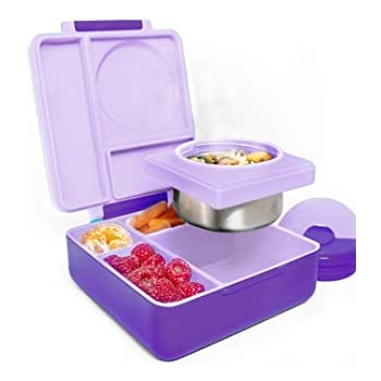 ac81c58aa76a Amazon.com: OmieBox Bento Box for Kids | Insulated and Leak Proof ...