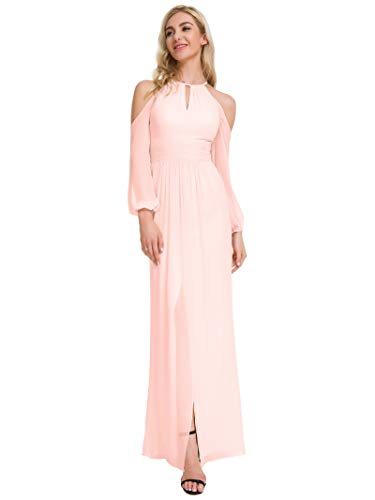 Alicepub Long Sleeve Bridesmaid Dresses Chiffon Evening Formal ...