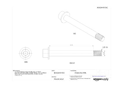 Hex Socket Drive 0.250 Shoulder Diameter Pack of 1 1//4-20 Thread Size Made in US Plain Finish 17-4 PH Stainless Steel Prairie Bolt Flange Socket Cap Head 2-1//2 Grip Length