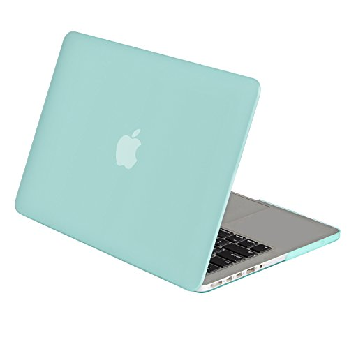 Mosiso Plastic Hard Case Cover Only for [Previous Generation] MacBook Pro 13 Inch with Retina Display No CD-Rom (A1502/A1425), Mint Green - Macbook Pro Cases Mint Green