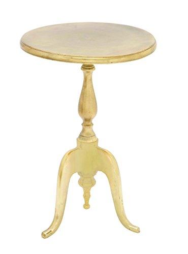 Benzara Aluminium Accent Table with Classic Look
