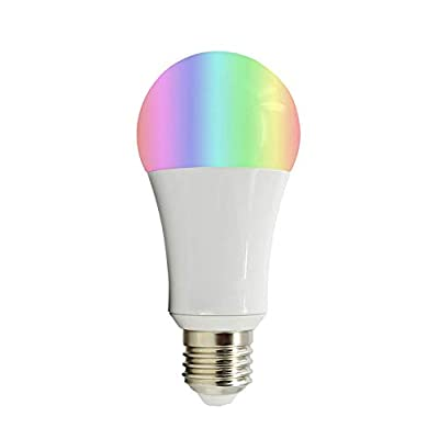 WHL.HH High Power LED Wi-Fi Smart Light Bulb 18W RGBW Timed Remote Control Voice Control Light Bulb E27, B22, E26 Dimmable Ambient Light Indoor Outdoor Light Bulb E27RGB + CW