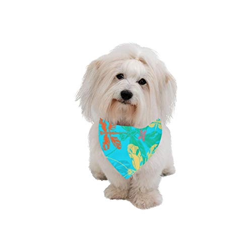 WIEDLKL Easter Pet Dog Cat Bandana Dragonfly Hand Animated Animal Wings Butterfly Bush Fashion Printing Bibs Triangle Head Scarfs Kerchief Accessories for Large Dog Cat Pet Birthdays Party Gifts ()