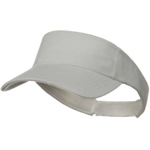 Comfy Cotton Jersey Knit Sun Visor - White by Otto Caps