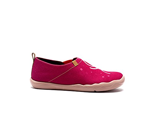 Uin Womens Couple Rouge Mode Chaussure De Toile Rouge