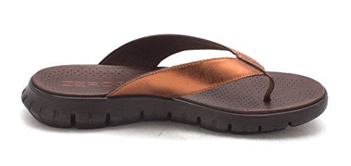 Offener Brown Frauen Leger Zeh Flip Bronze Flops xRd7zpw