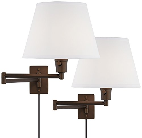Clement Plug-In Swing Arm Wall Lamp Set of 2 in (Halogen Plug In Swing Arm)