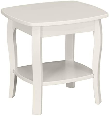 Amazon Brand Ravenna Home Anne Marie Small Curved Leg Shelf Storage Side End Table