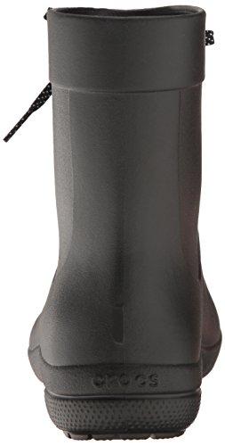 crocs Women's Freesail Shorty Rainboot, Black, 9 M US
