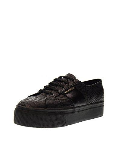 women Black Shoe PUSNAKEW platform low sneakers 2790 S00CJZ0 F90 SUPERGA O5dnHqzwxH
