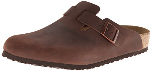 Birkenstock Women's Boston SFB, Habana Oiled Leather, 40 N EU (Clogs Birkenstock Professional)