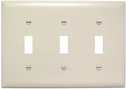 Legrand Pass Seymour Tp3lacc12 Tp1wcp10 Toggle Switch Wall Plates Three Gang 1 Pack Light Almond Blank Wall Plates Amazon Com