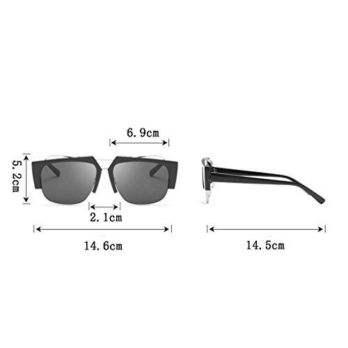 Gafas Moda Personalidad de Europa Gafas B Protección la High Decoración Color de Metal Unisex América B Ocular Sol Gafas End UV400 Weight30g Creativa Anti wxrwqzYS