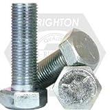 Hex Cap Screw, 3/8-16 x 2'', Carbon Steel, Zinc, Grade 5, PT, UNC, 100 Pack