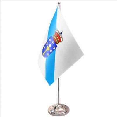 1000 Flags Bandera de España Galicia Satinada y cromada para Mesa ...