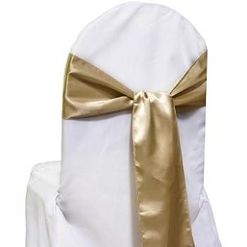 Amazon 10 New Satin Chair Sashes Bows Ties Wedding