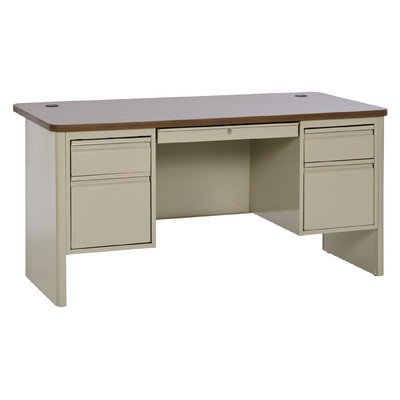 Sandusky Lee DP706030-PO 700 Series Double Pedestal Heavy Duty Teachers Desk, 30
