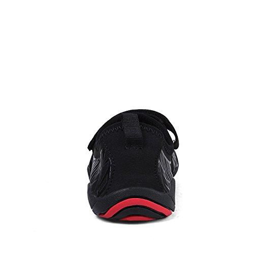 Fastar zapatos de agua de natacion para hombre Zapatillas chanclas Zapatos de playa Verano Unisex Negro