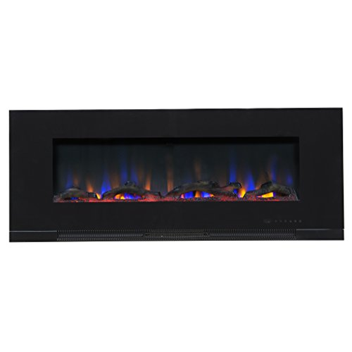 Touchstone ValueLine 50 10-Color, in-Wall Recessed, Electric Fireplace, 50 Inch Wide, Logset Crystal, 1200W Heat Black