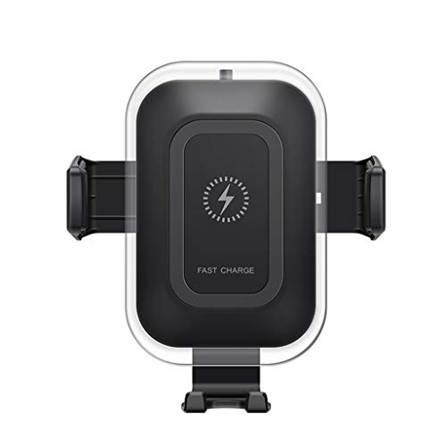 Solovley Wireless Charger Car Mount, 10W Qi Certified Power Fast Charge Phone Holder, Adjustable Air Vent Car Mount Holder Compatible for iPhone/Samsung/Huawei/All Phones That Support Qi