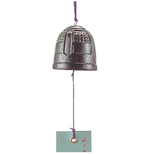 Nambu Tetsuki Cast Iron Green Tanzaku Bell Temple iron wind chimes (Dia 50mm)