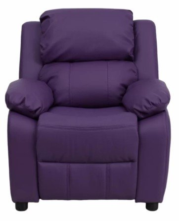 Comfortable Recliner Chair For Kids W/ Storage Arms by Ashley