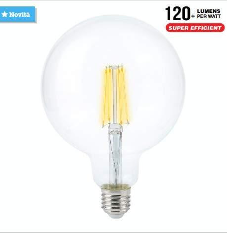bombilla Globo LED Transparente E27 12.5 W 230 V 125 mm Filamento 4000 K luz fría vtac V-TAC 7454: Amazon.es: Iluminación