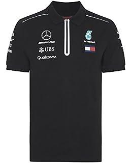 53e35e2186b Mercedes AMG Petronas Men's Mercedes AMG Men Polo 2018, Black, Black, ...