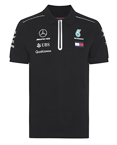 410eee87a9b Image Unavailable. Image not available for. Color  Mercedes-AMG Petronas  Motorsport 2018 Men s Team Polo Shirt Black ...