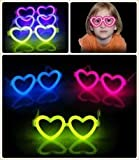 Madcaps The Party Shop Glow Heart Eyeglasses (set of 2)